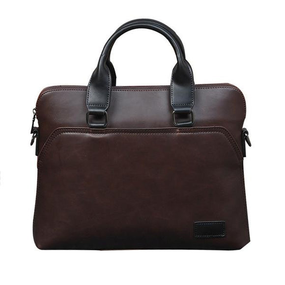 Vegan Leather Laptop Bag (For Men)