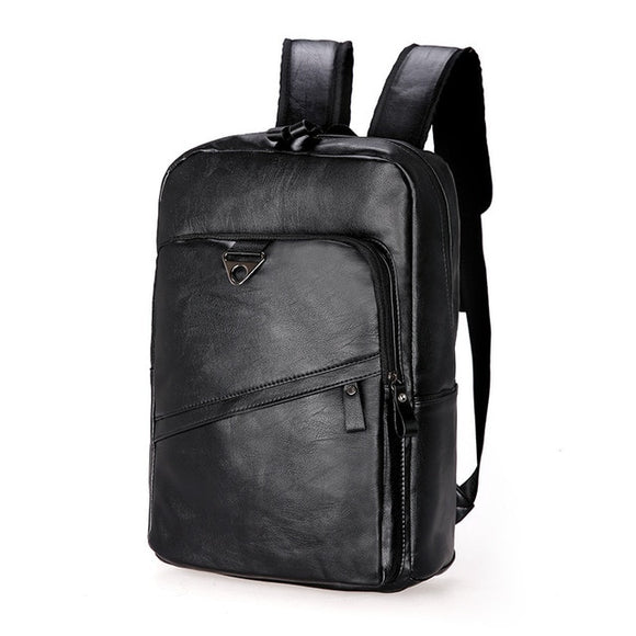 Vegan Leather Triple Zip Backpack (For Men)