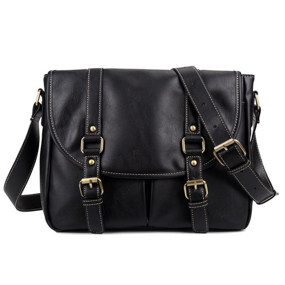 Vegan Leather Shoulder Bag (For Men)
