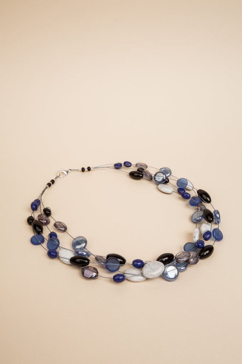 Collier Mathilde bleu