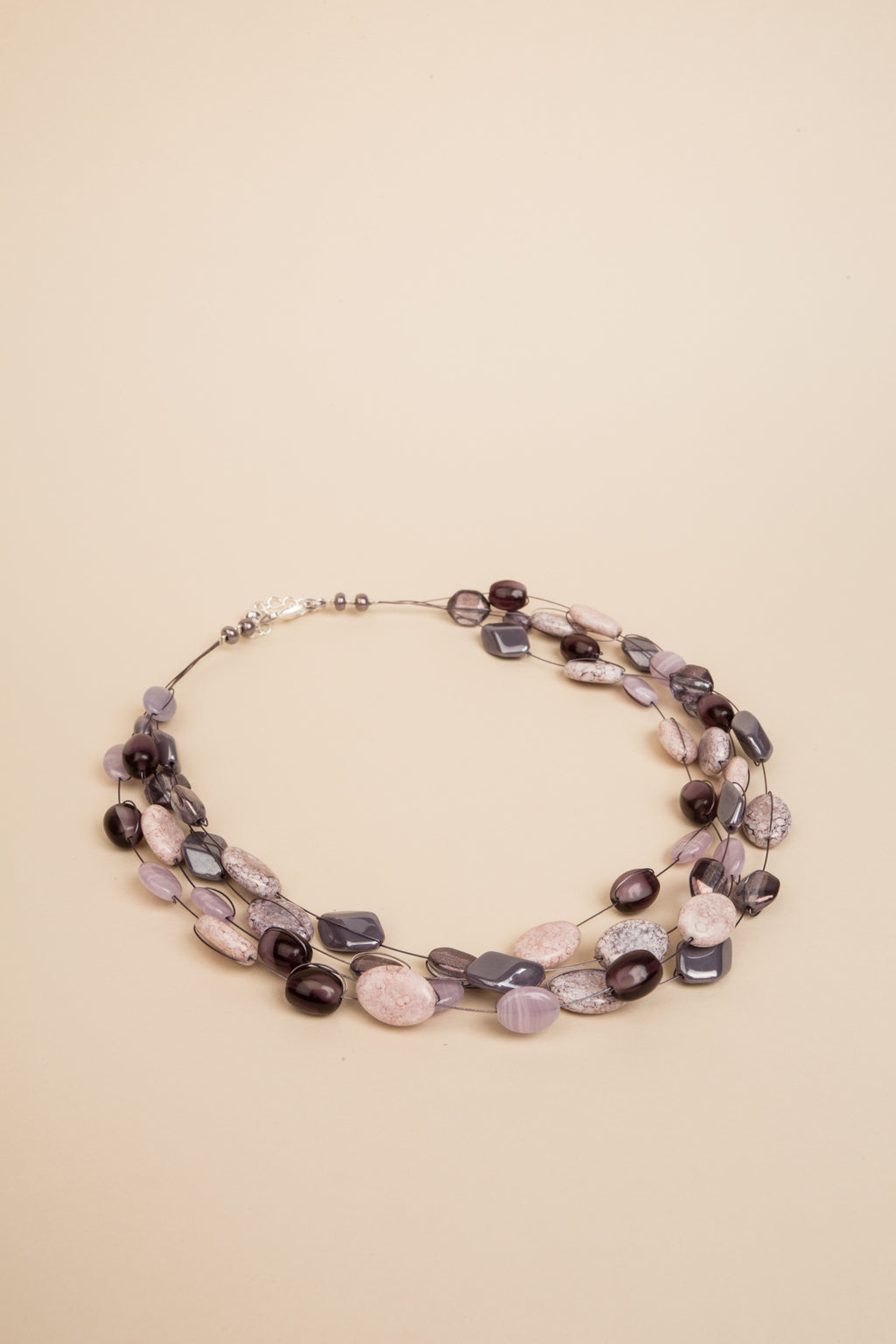 Collier Mathilde rose et violet