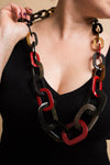 Long collier Dalia rouge