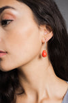 Boucles d'oreilles Miranda Orange
