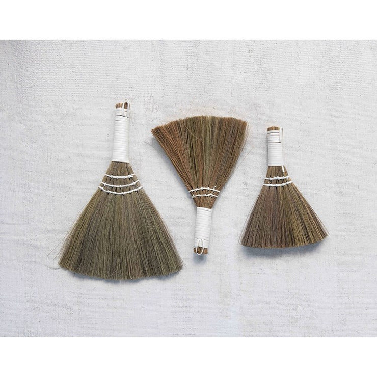 Whisk Brooms w/ White Handle