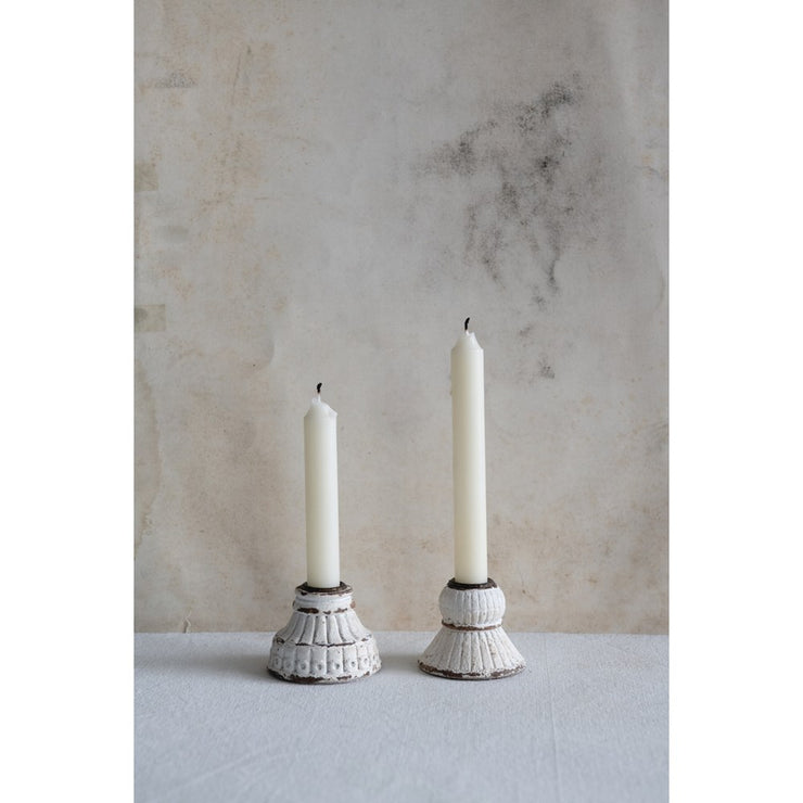 Embossed Resin Candle Holder