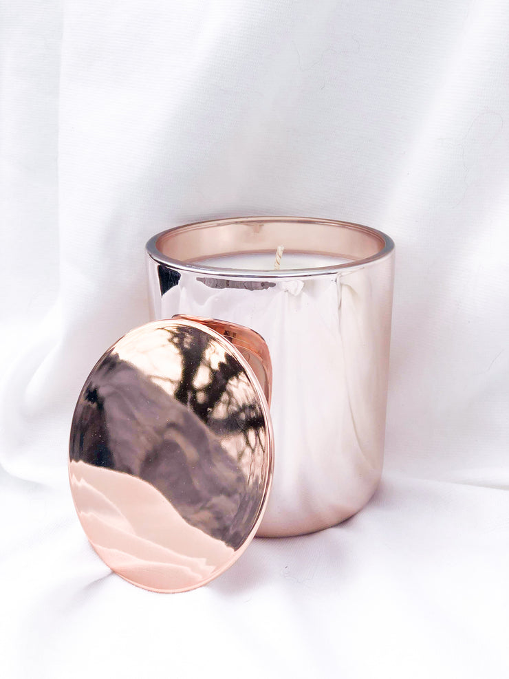 13.5oz Christmas Rose Gold Candle