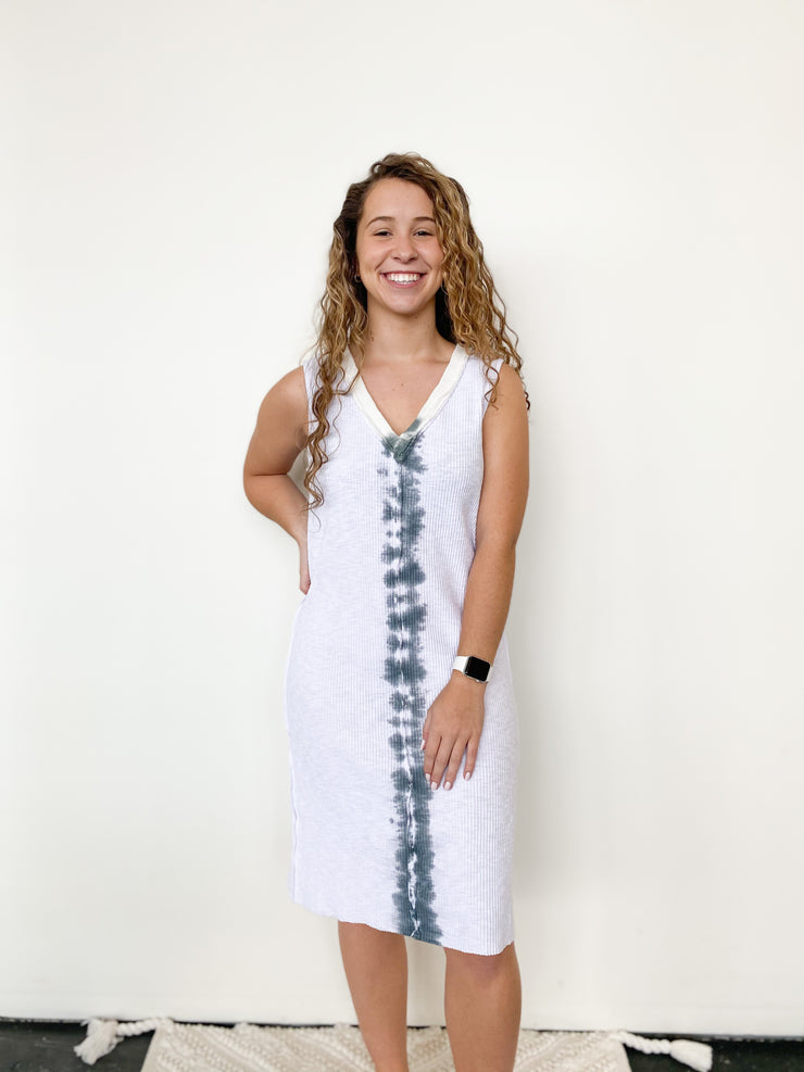 Amaia Ribbed Tie Dye Sleeveless Dress