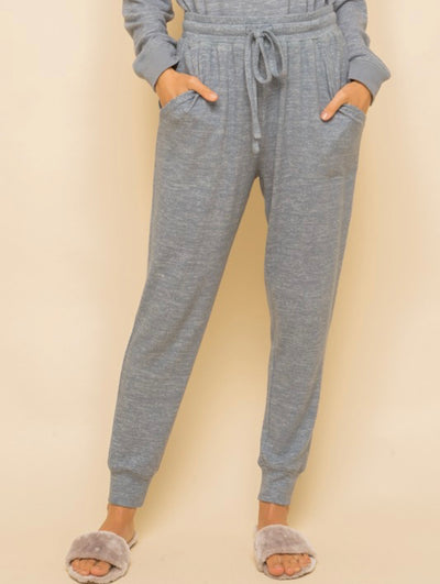 Pavithra Heather Blue Joggers