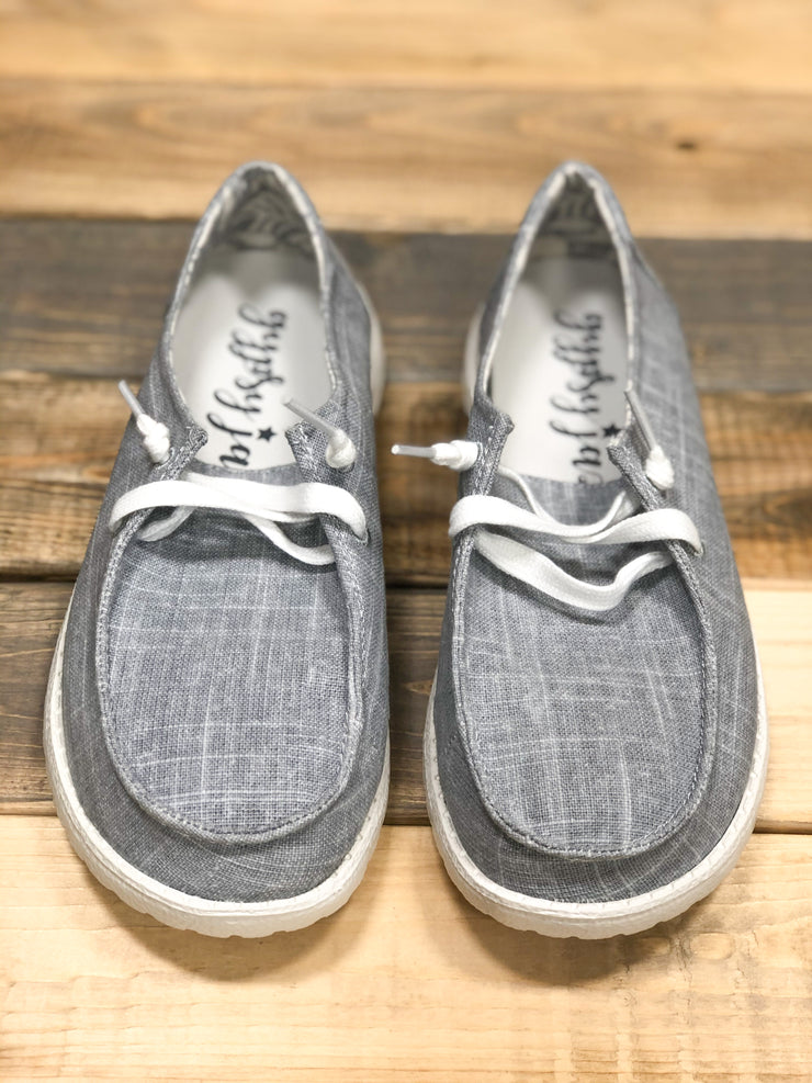 Gypsy Jazz Grey Canvas Sneakers