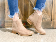 Katherine Beige Ankle Boots