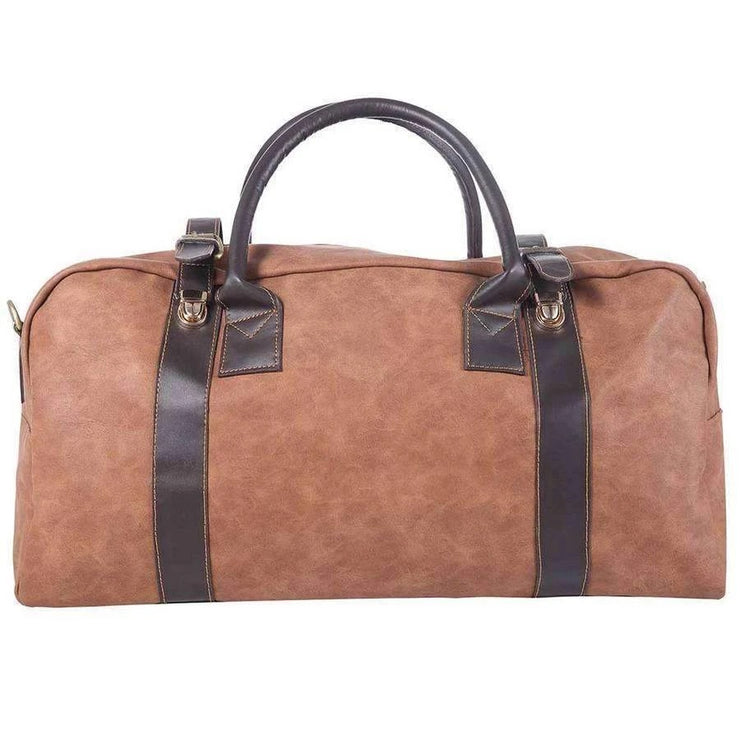 Canvas and Leather Duffel Bag
