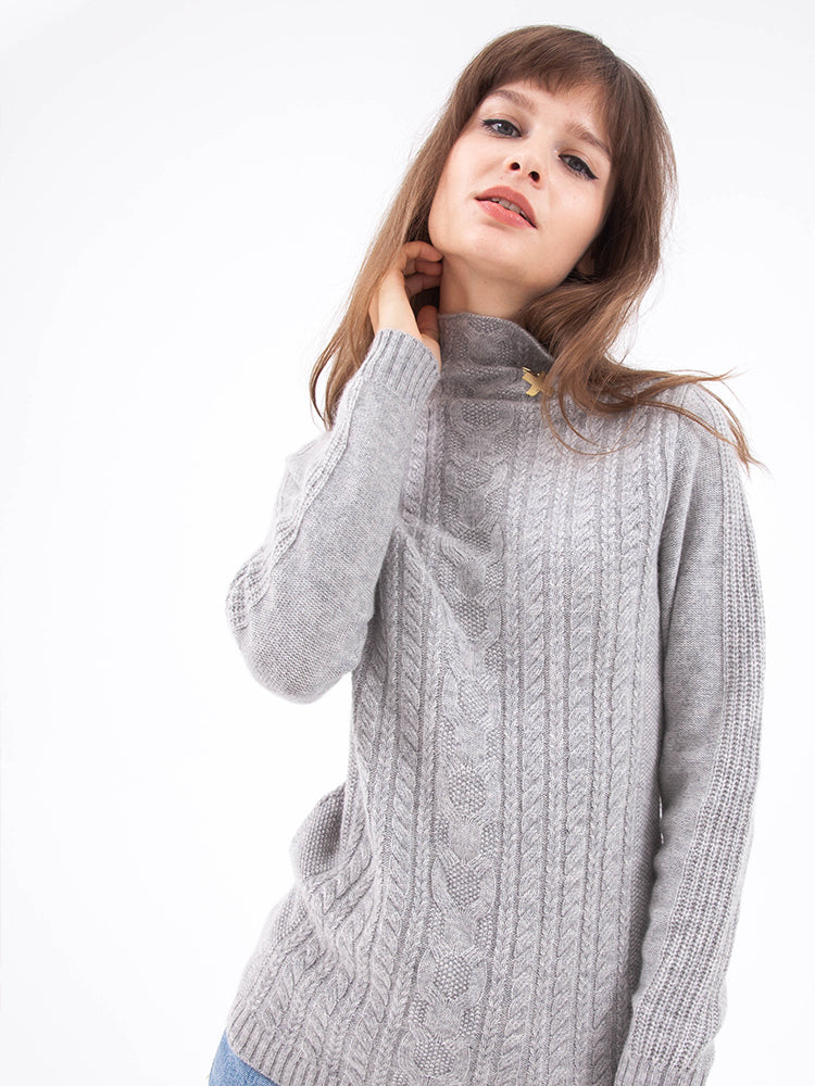 Slim Aran Turtleneck