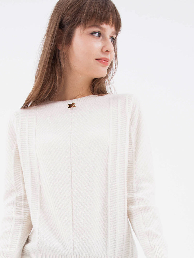 Piping Cream Sweater