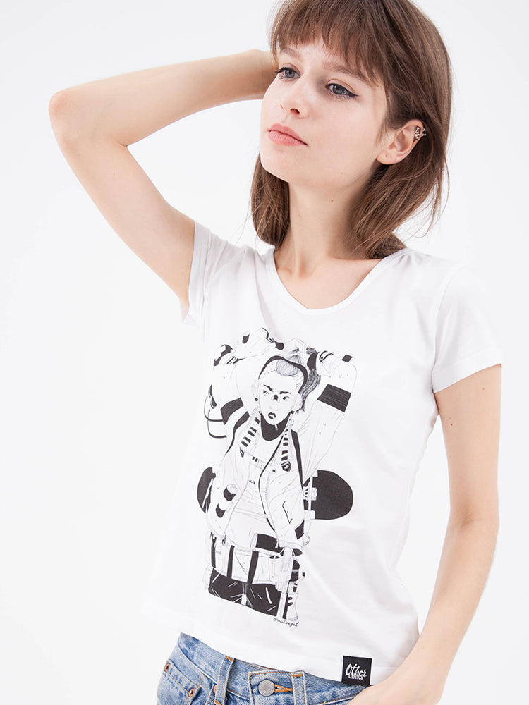 'Steampunk Hooked Girl' Tee by nui.vagab