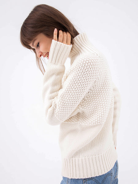 Knit Stovepipe Turtleneck
