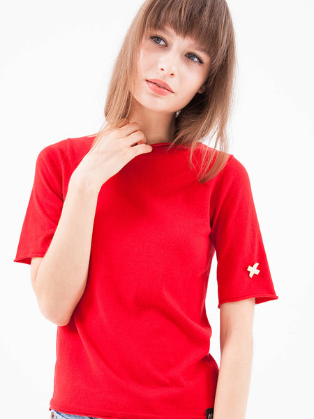 Summerweight Silk Short Sleeve Sweater