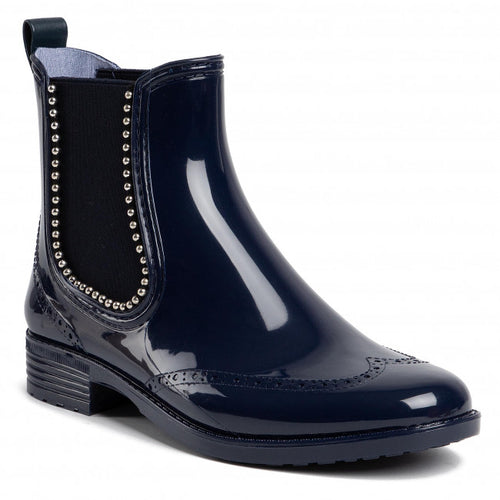 Ladies Navy Chelsea Welly Boot