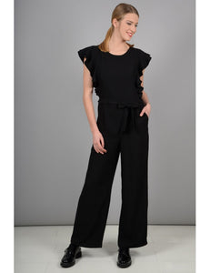 Ladies Woven black  Jumpsuit_