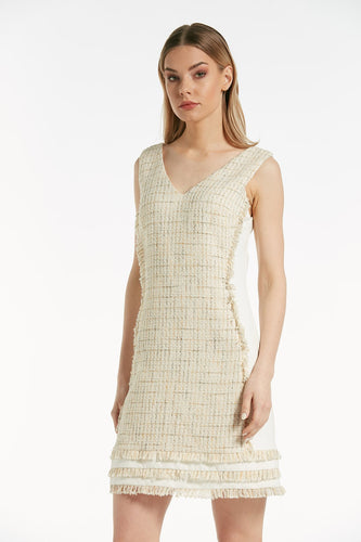 Chanel Woven  Style V-Neck Dress