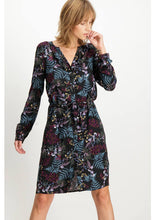 Allover Printed Dress With A Round Neck