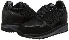 XTI Ladies Flat Wedge Platform Lace Up Trainers - Black