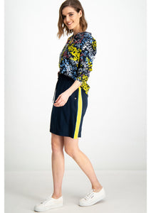 Dark Blue Skirt with Yellow Stripe
