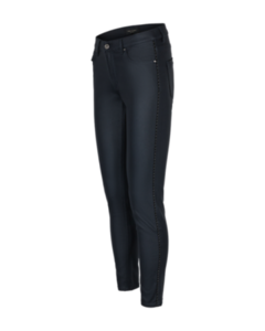Freequent Ladies Black Coated Trousers With Piping Detail