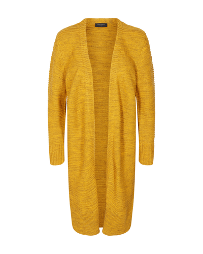 Freequent Ladies Golden Yellow Melange Edge to Edge Cardigan