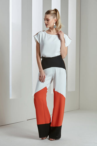 Colour Blocked Trousers