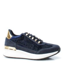 XTI Ladies Navy Embellished Trainer