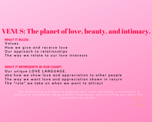 Load image into Gallery viewer, Astrology booklet for Cosmic Love
