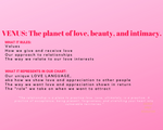 Astrology Downloadable booklet for Cosmic Love