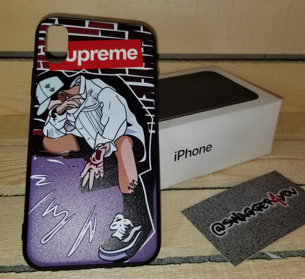 iPHONE X custom Supreme  case - swagger4you