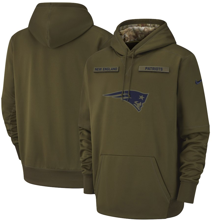 Nike New England Patriots Olive Salute to Service Sideline Therma  Performance Pullover Hoodie - swagger4you. Tap to expand 9d1d9d90c