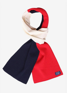 Saint James Vive la France Red, White and Blue Woollen Scarf