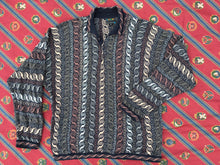 Vintage Coogi 3D knitted polo neck cotton blend  jumper
