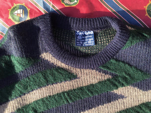 Vintage 3D knitted jumper