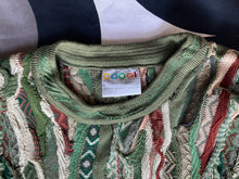 Vintage COOGI 3D knitted cotton crew neck jumper, Made in Australia, Large