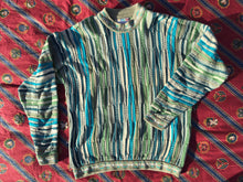 Vintage Coogi 3D knitted round-neck cotton jumper