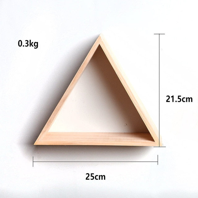 Exceptionnel ... Load Image Into Gallery Viewer, 1pcs Triangle Wooden Floating Shelf  Storage Display Book Shelf ...