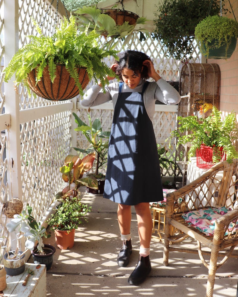Lola Dress Upcycled Denim
