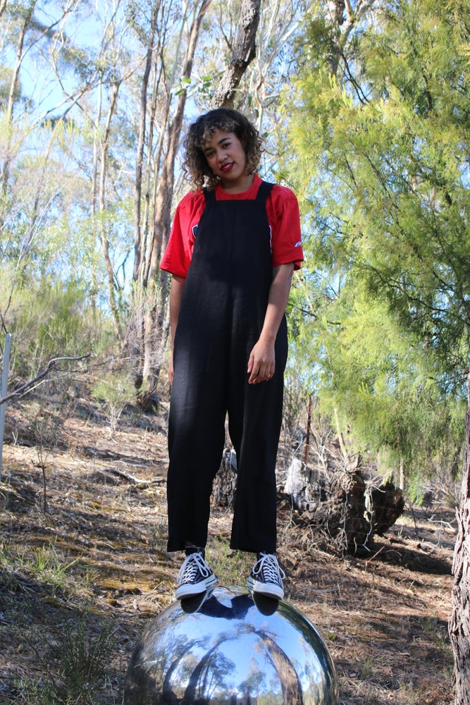 Loti Jumpsuit Black Linen