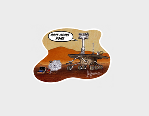 """Oppy Phone Home"" T-Shirt - Adult"