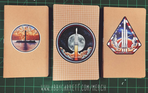 SpaceX Art Dot & Grid Journals