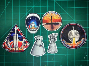 Pack of 6 Die Cut Stickers