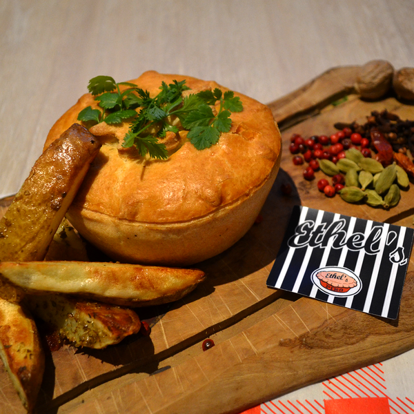 Chip Shop Chicken Curry Pie