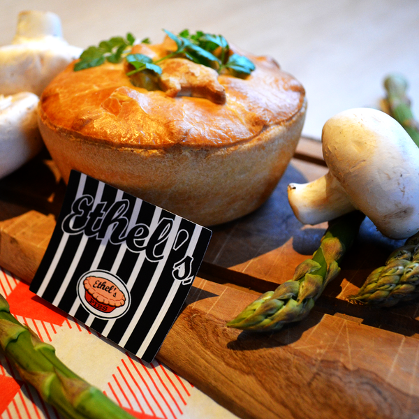 Vegetarian Mushroom and Asparagus Pie