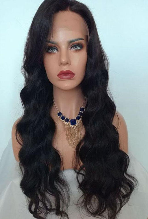 Natural Wave Dark Brown Remy Lace Wig