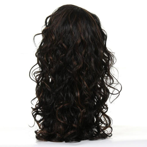 Natural Wave Dark Brown Brazilian Remy Lace Wig