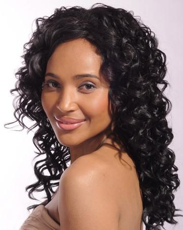 Deep Curl Dark Brown Brazilian Remy Lace Wig